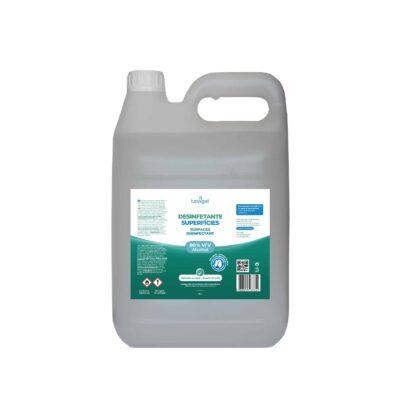 Embalagem de 5 litros de desinfetante e antisséptico de superfícies