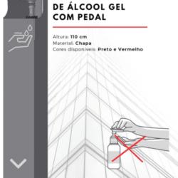 dispensador de alcool gel com pedal