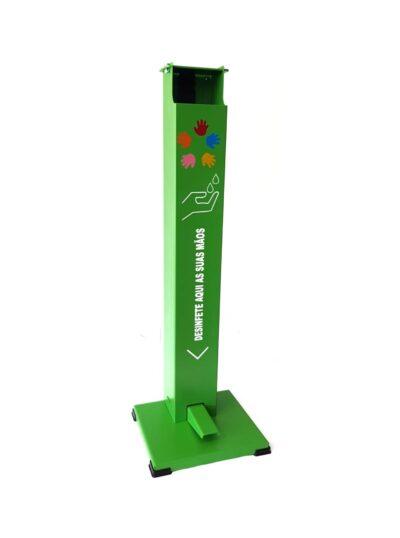Estrutura dispensador de Álcool Gel com Pedal para Crianças