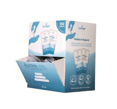 Alcool Gel desinfetante em saquetas. 150 unidades individuais
