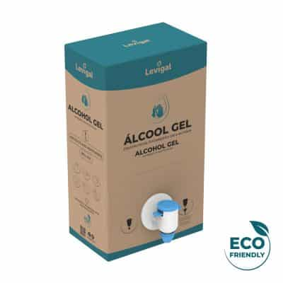 Embalagem ecológica em cartão de álcool gel de 5 litros